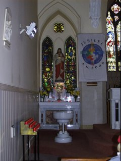 Side Altar to the Sacred Heart